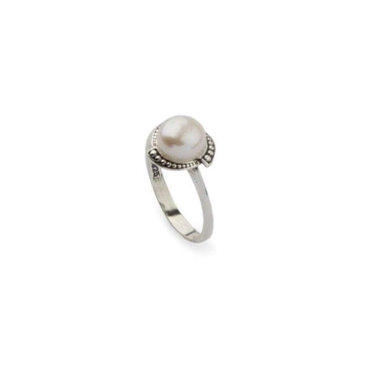 Srebrny pierścionek perła PK 1883