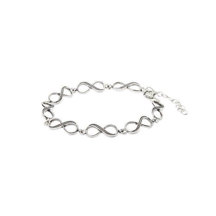 Srebrna bransoletka  nieskończoność  L 1788
