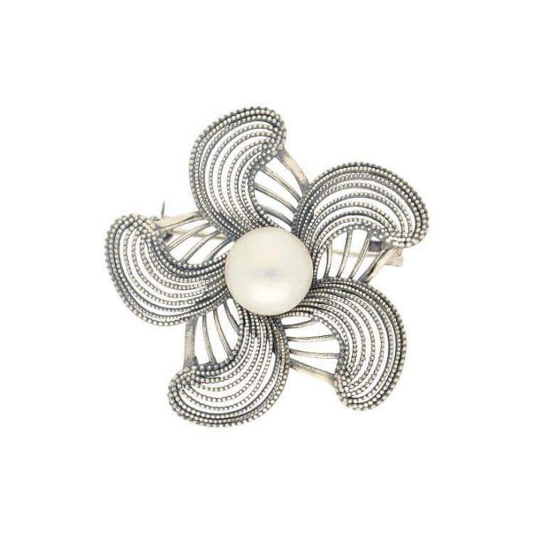 Broszka z białą perłą B 168