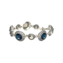 Srebrna bransoletka z kryształami Swarovskiego L 1914 Montana