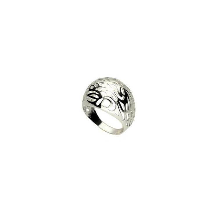 Rodowany pierścionek srebrny PK 1908