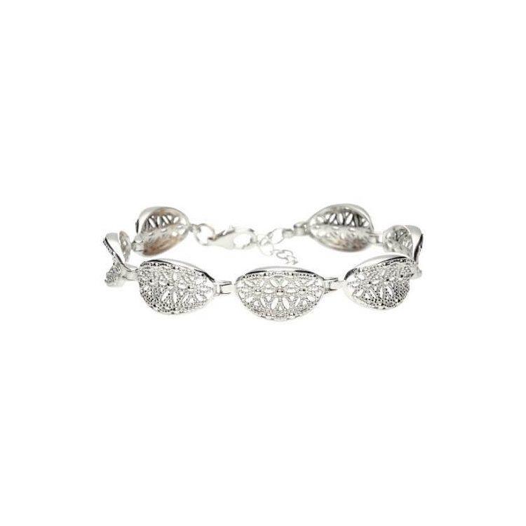 Srebrna rodowana bransoletka L 1890