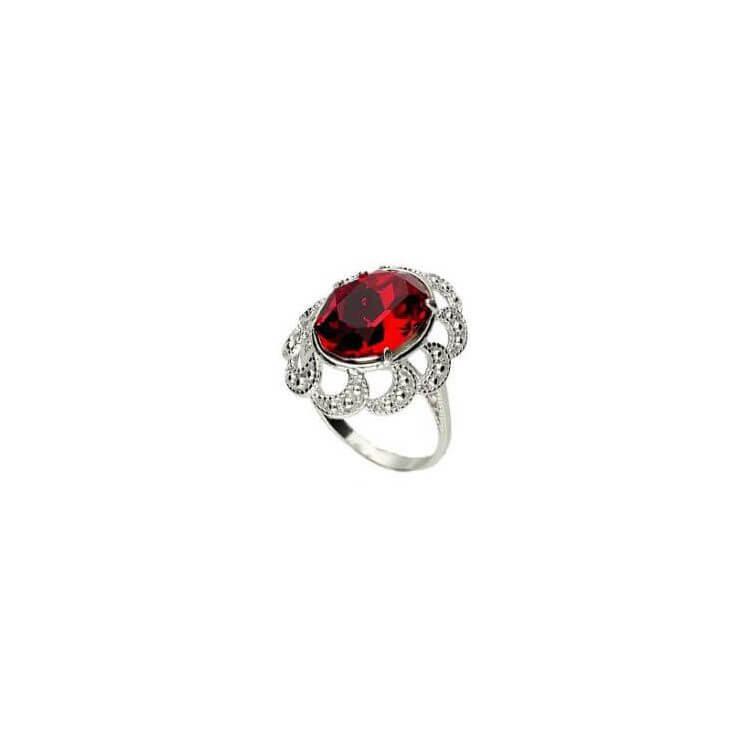 Srebrny pierścionek z kryształem Swarovskiego PK 1885 Siam