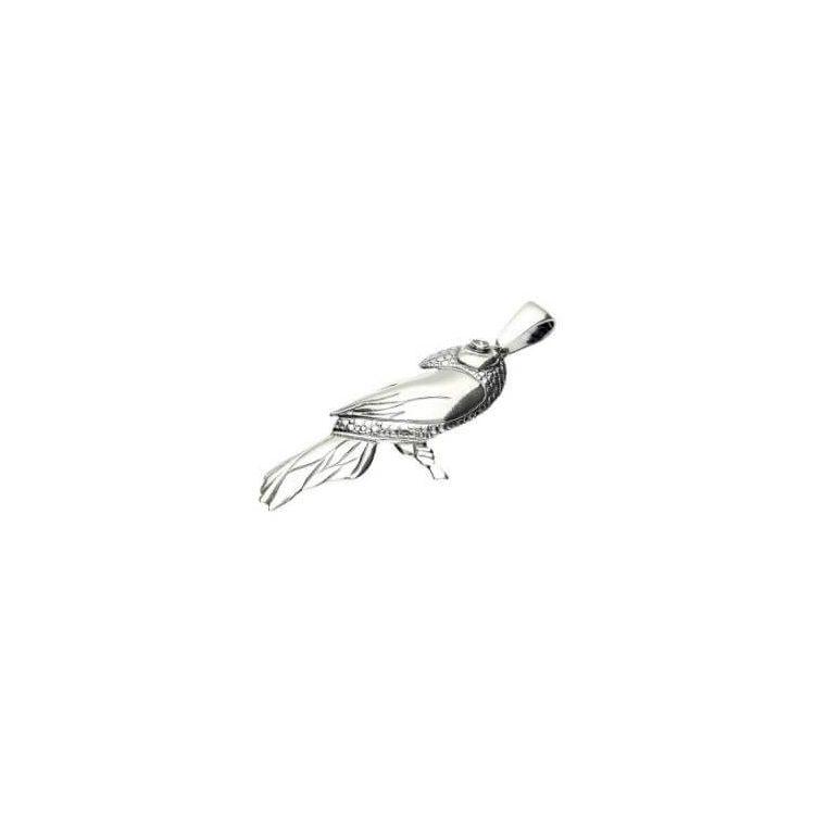 Srebrny wisiorek z kryształem Swarovskiego Papuga W 1249
