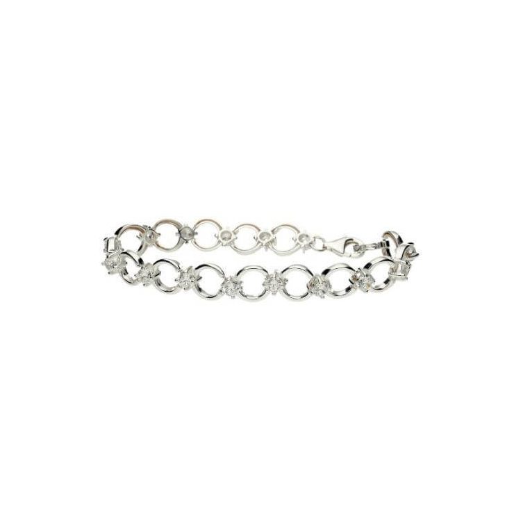 Bransoletka srebro cyrkonie L 405