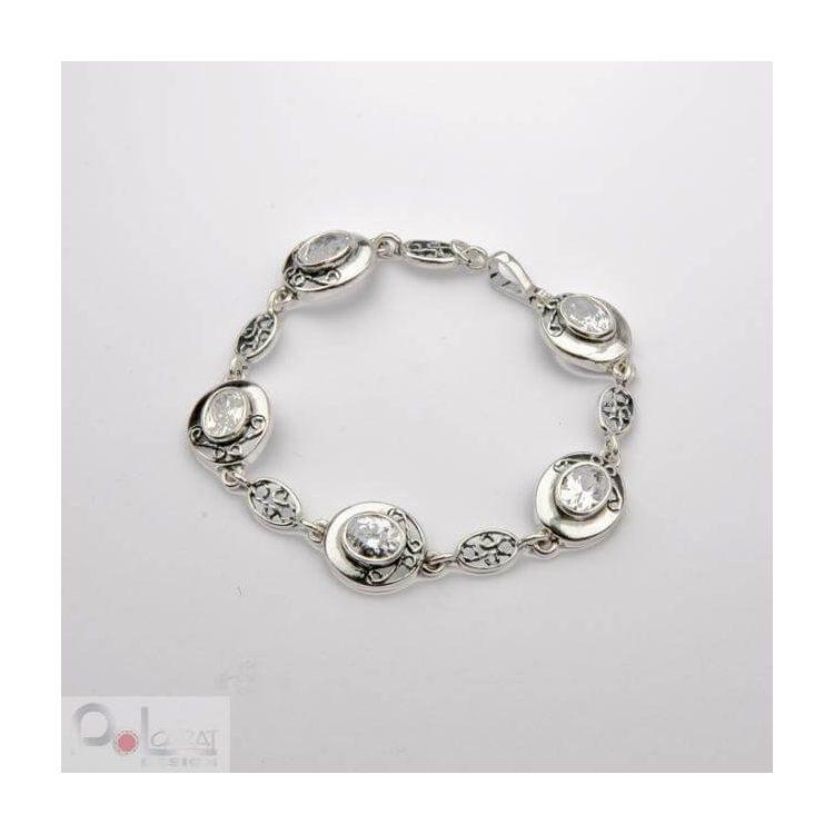 Bransoletka srebrna z cyrkoniami L 1524