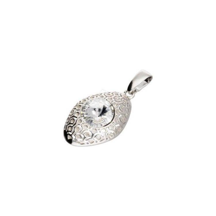 Srebrny wisiorek z kryształem Swarovskiego W 1961 Crystal
