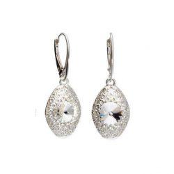 Srebrne kolczyki z kryształami Swarovskiego K 1961