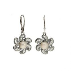 Kolczyki srebrne z perłami K 1896 Perła
