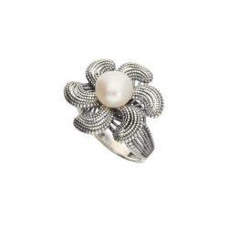 Pierścionek srebrny z perłą PK 1896 Perła