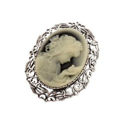 Broszka srebrna B 1657 Kamea