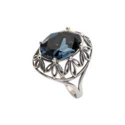 Srebrny pierścionek z kryształami Swarovskiego PK 1672