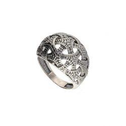 Srebrny pierścionek oksydowany PK 1899