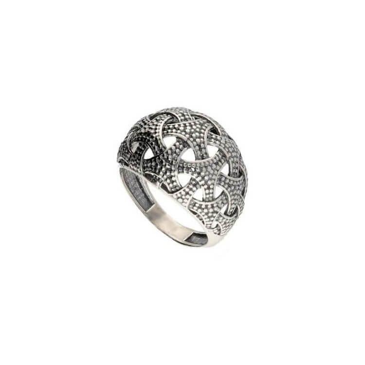 c24e82575220cd Srebrny pierścionek oksydowany PK 1899 | PolcaratDesign