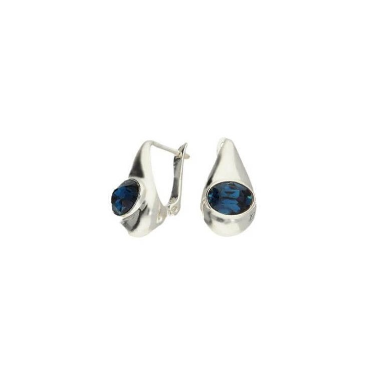 Kolczyki srebrne z kryształami Swarovski K3 1818 Montana