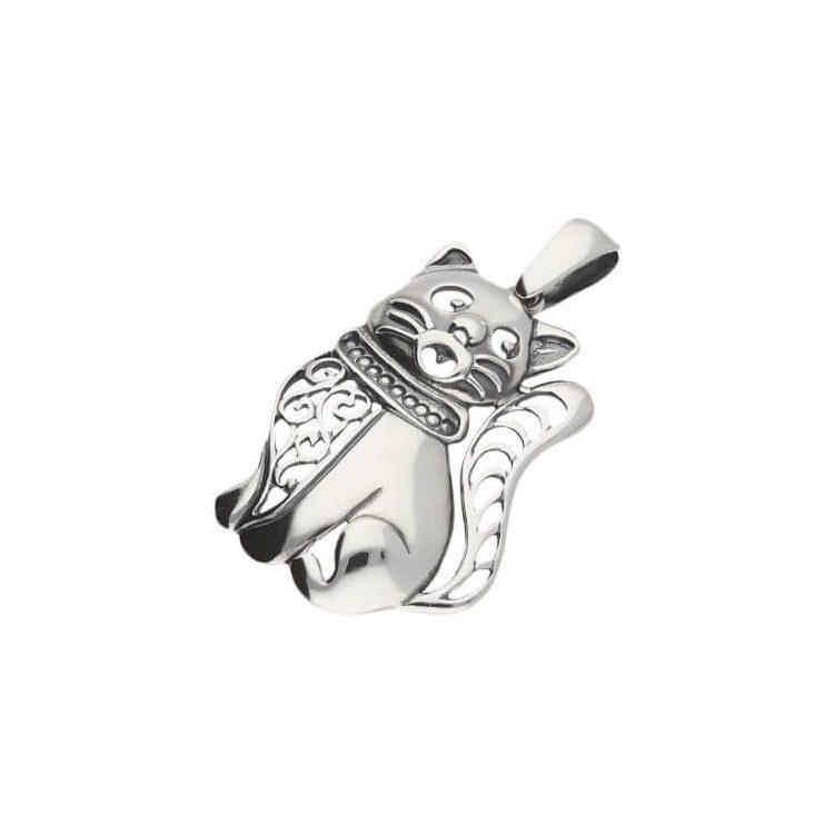 Srebrny wisiorek srebrny Kot W 1271