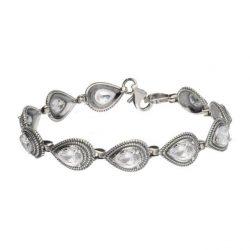 Bransoletka srebrna z cyrkoniami L 1833 Biały