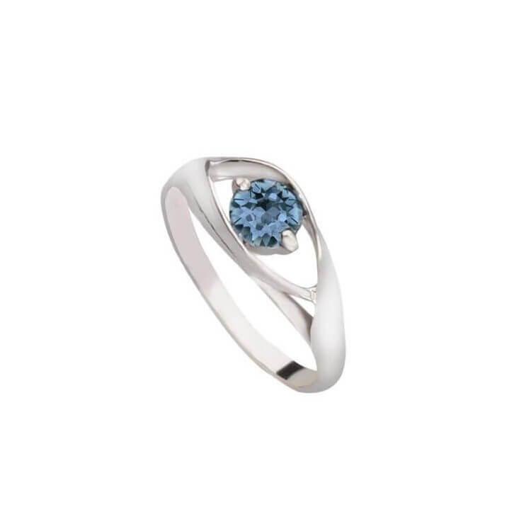 Srebrny pierścionek z kryształem Swarovski PK 2011 Denim Blue