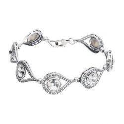 Srebrna bransoletka z kryształami Swarovskiego L 1827 Crystal