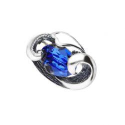 Srebrna broszka z kryształami Swarovski WB 207 Sapphire