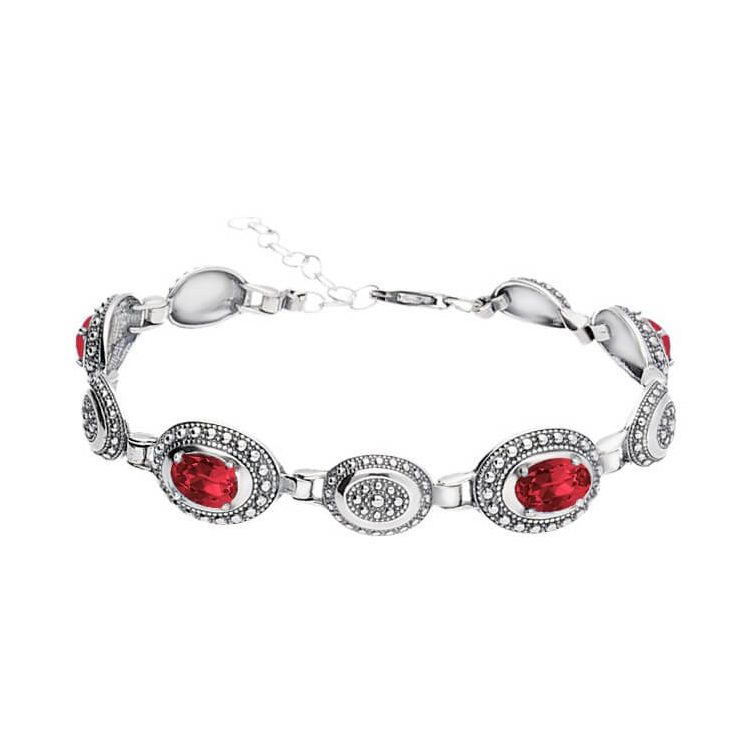 Srebrna bransoletka z kryształami Swarovskiego L 1990