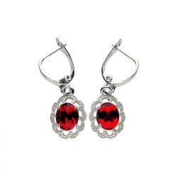 Srebrne kolczyki z kryształem Swarovskiego K3 1885