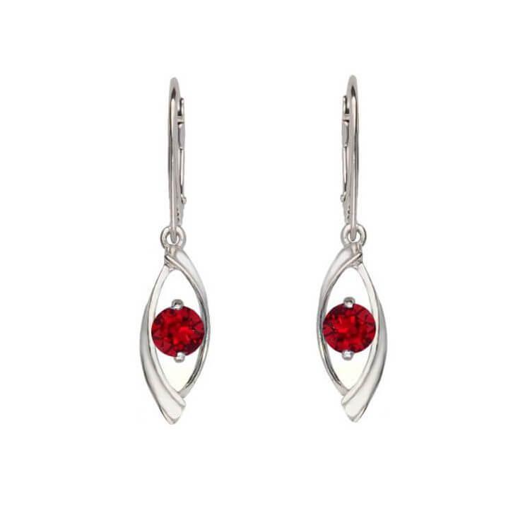Srebrne kolczyki z kryształem Swarovski K 2011