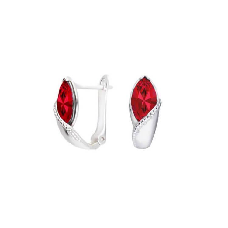 Srebrne kolczyki z kryształem Swarovski K3 1902