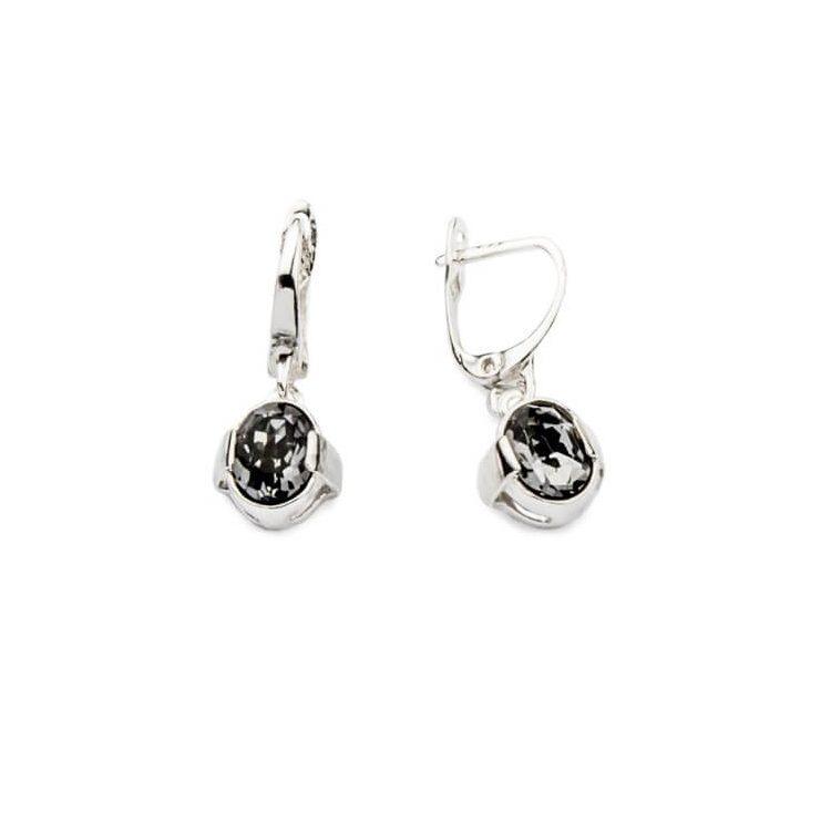 Kolczyki srebrne z kryształami Swarovskiego K2 1789