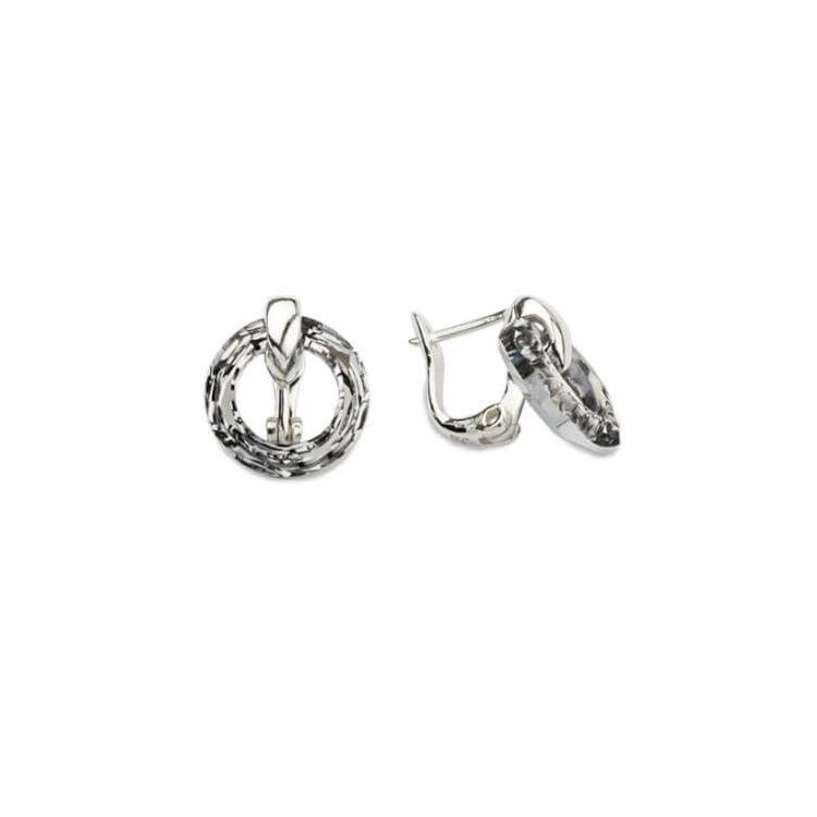 Kolczyki srebrne kryształy Swarovski Crystal Cosmic Ring K3 1502