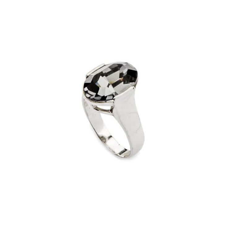 Srebrny pierścionek z kryształami Swarovskiego PK 1789