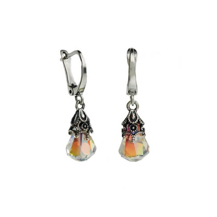 Srebrne kolczyki z kryształem Swarovski Zorza K 1800