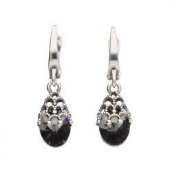 Srebrne kolczyki z kryształami Swarovski K 1957