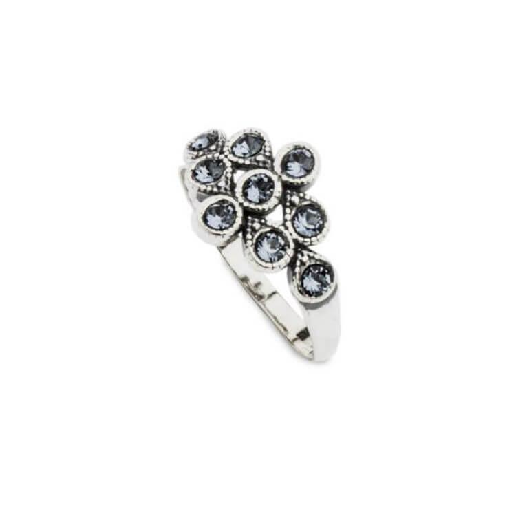 Srebrny pierścionek z kryształami Swarovskiego PK 1807