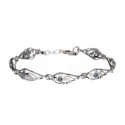 Bransoletka srebrna z kryształami Swarovski L 1985