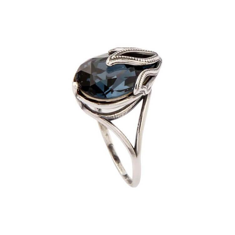 Srebrny pierścionek z kryształem Swarovskiego PK 1643