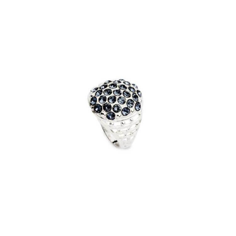 Srebrny pierścionek z kryształami Swarovskiego PK 1795