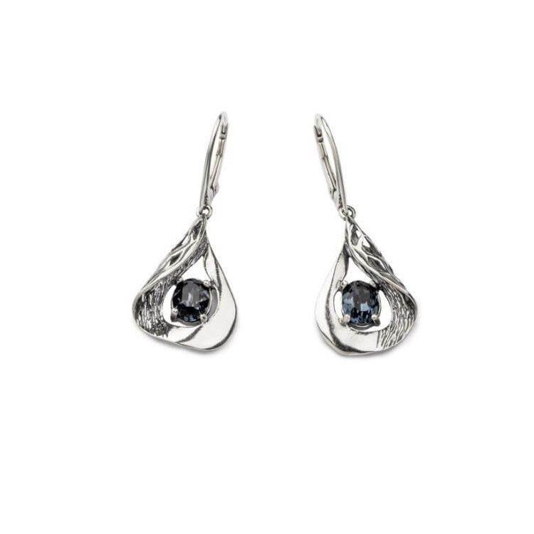 Kolczyki srebrne z kryształami swarovskiego K 1772