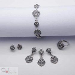 Pierścionek srebro oksydowane P 997