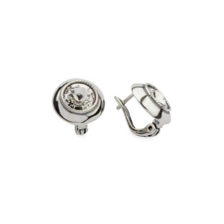 Kolczyki srebrne oksydowane Swarovski K 1171