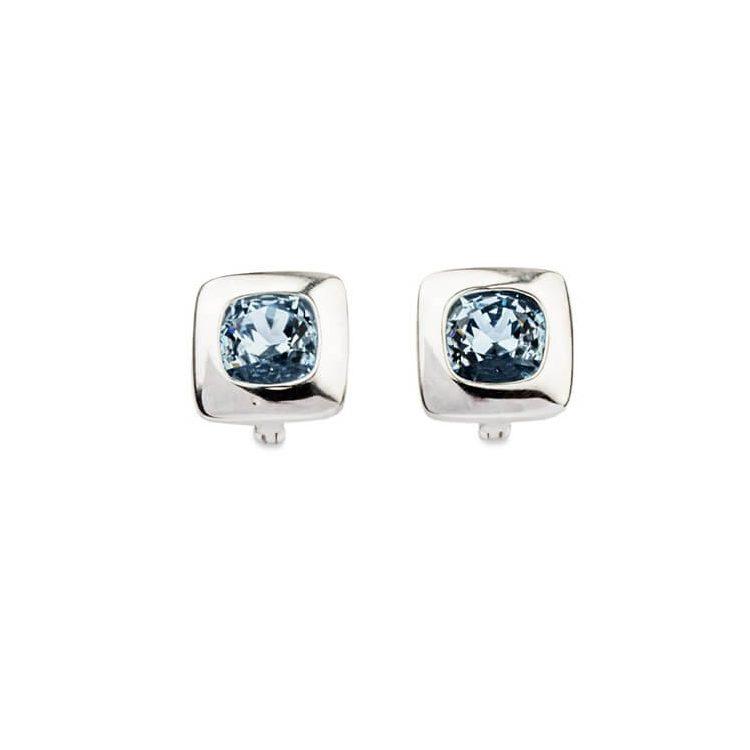 Kolczyki srebrne z kryształami Swarovskiego Crystal K3 1750