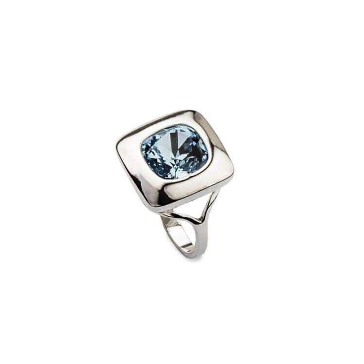 Srebrny pierścionek z kryształami Swarovskiego PK 1750