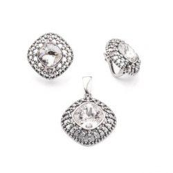 Kolczyki srebrne z kryształami Swarovski K3 1754