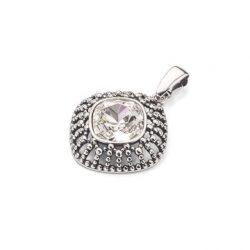 Wisiorek srebrny z kryształem Swarovski W 1754