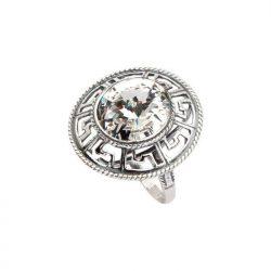 Srebrny pierścionek z kryształami Swarovskiego PK 1693