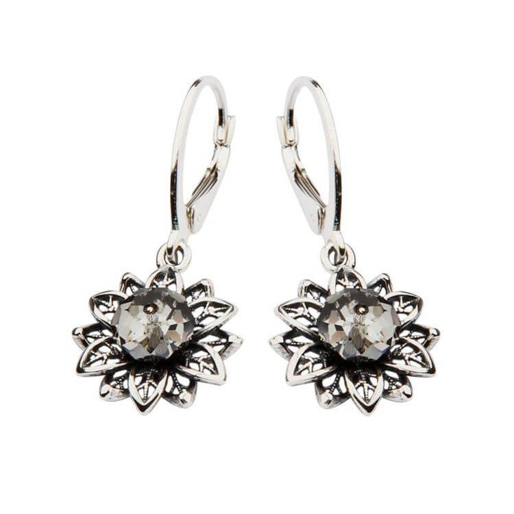 Kolczyki srebrne z kryształami Swarovskiego K 1611