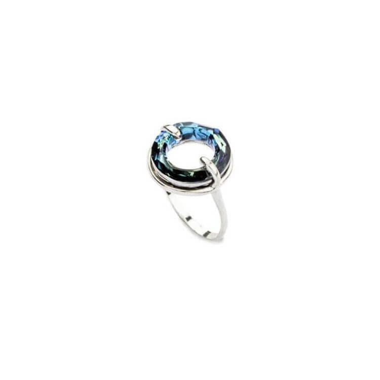 Srebrny pierścionek z kryształem Swarovskiego PK 1502