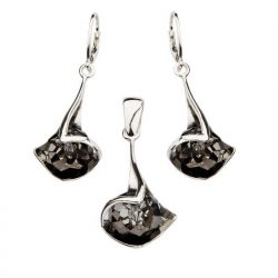 Komplet srebro kryształy Swarovski KPL 1112