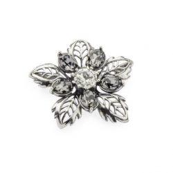 Srebrna broszka z kryształami Swarovskiego B 165