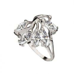 Srebrny pierścionek z cyrkoniami PK 1635